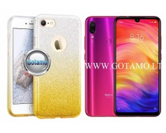 iLLuminaTe silikoninis dėklas nugarėlė Xiaomi Redmi Note 7, Xiaomi Redmi Note 7 Pro telefonams aukso spalvos