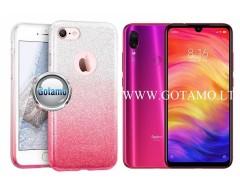 iLLuminaTe silikoninis dėklas nugarėlė Xiaomi Redmi Note 7, Xiaomi Redmi Note 7 Pro telefonams rožinės spalvos