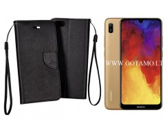 Manager dėklas Huawei Y6 (2019) Huawei Honor 8A mobiliesiems telefonams juodos spalvos