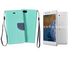 Manager dėklas Nokia 3 mobiliesiems telefonams mėtinės spalvos