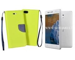 Manager dėklas Nokia 3 mobiliesiems telefonams salotinės spalvos
