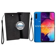 Manager dėklas Samsung Galaxy A50 mobiliesiems telefonams juodos spalvos