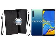 Manager dėklas Samsung Galaxy A9 (2018) mobiliesiems telefonams juodos spalvos
