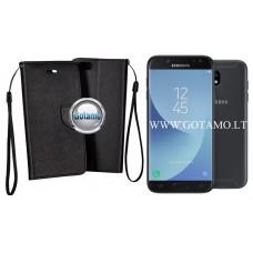 Manager dėklas Samsung Galaxy J5 (2017) mobiliesiems telefonams juodos spalvos