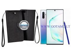 Manager dėklas Samsung Galaxy Note 10+ mobiliesiems telefonams juodos spalvos