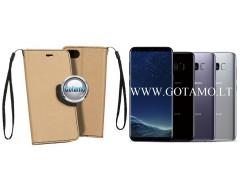 Manager dėklas Samsung Galaxy S8 mobiliesiems telefonams aukso spalvos