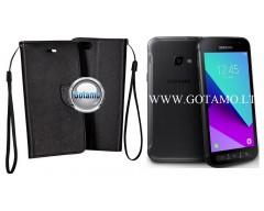 Manager dėklas Samsung Galaxy Xcover 4 mobiliesiems telefonams juodos spalvos