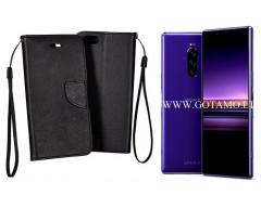 Manager dėklas Sony Xperia 1 Sony Xperia XZ4 mobiliesiems telefonams juodos spalvos