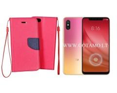 Manager dėklas Xiaomi Mi 8 Lite, Xiaomi Mi 8X mobiliesiems telefonams rožinės spalvos