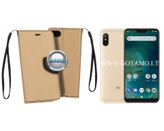 Manager dėklas Xiaomi Mi A2 Lite, Xiaomi Redmi 6 Pro mobiliesiems telefonams aukso spalvos