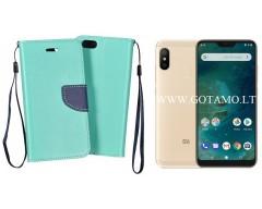 Manager dėklas Xiaomi Mi A2 Lite, Xiaomi Redmi 6 Pro mobiliesiems telefonams mėtinės spalvos