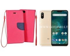 Manager dėklas Xiaomi Mi A2 Lite, Xiaomi Redmi 6 Pro mobiliesiems telefonams rožinės spalvos