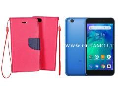 Manager dėklas Xiaomi Redmi Go telefonams rožinės spalvos