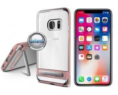Mercury Dream silikoninis dėklas su atrama Apple iPhone X Xs telefonams rožinės spalvos