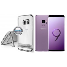 Mercury Dream silikoninis dėklas su atrama Samsung Galaxy S9 telefonams sidabro spalvos Klaipėda | Vilnius | Klaipėda