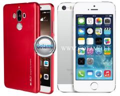 Mercury i-Jelly dėklas nugarėlė Apple iPhone 5 5s SE telefonui metalic raudonos spalvos
