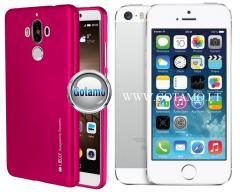 Mercury i-Jelly dėklas nugarėlė Apple iPhone 5 5s SE telefonui metalic tamsiai rožinės spalvos