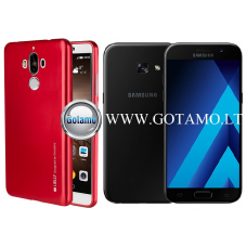 Mercury i-Jelly dėklas nugarėlė Samsung Galaxy A3 (2017) telefonui metalic raudonos spalvos Klaipėda | Vilnius | Telšiai