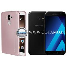 Mercury i-Jelly dėklas nugarėlė Samsung Galaxy A3 (2017) telefonui metalic šviesiai rožinės spalvos
