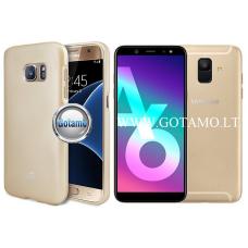 Mercury i-Jelly dėklas nugarėlė Samsung Galaxy A6 (2018) telefonui metalic aukso spalvos Telšiai | Palanga | Šiauliai