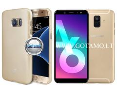 Mercury i-Jelly dėklas nugarėlė Samsung Galaxy A6 (2018) telefonui metalic aukso spalvos