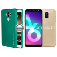 Mercury i-Jelly dėklas nugarėlė Samsung Galaxy A6 (2018) telefonui metalic žalios spalvos