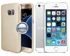 Mercury Jelly dėklas nugarėlė Apple iPhone 5 5s SE telefonui aukso spalvos