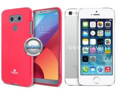 Mercury Jelly dėklas nugarėlė Apple iPhone 5 5s SE telefonui tamsiai rožinės spalvos