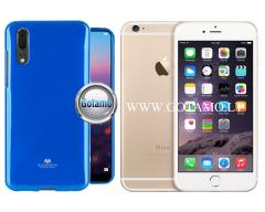 Mercury Jelly dėklas nugarėlė Apple iPhone 6 6s telefonui mėlynos spalvos