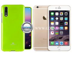 Mercury Jelly dėklas nugarėlė Apple iPhone 6 Plus 6s Plus telefonui salotinės spalvos