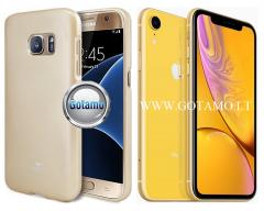 Mercury Jelly dėklas nugarėlė Apple iPhone XR telefonui aukso spalvos