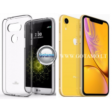 Mercury Jelly dėklas nugarėlė Apple iPhone XR telefonui skaidrus