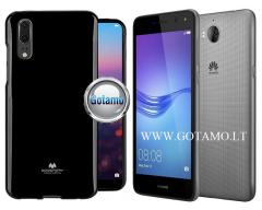 Mercury Jelly dėklas nugarėlė Huawei Y5 (2017) Huawei Y6 (2017) telefonui juodos spalvos