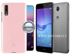 Mercury Jelly dėklas nugarėlė Huawei Y5 (2017) Huawei Y6 (2017) telefonui rožinės spalvos