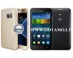 Mercury Jelly dėklas nugarėlė Huawei Y5 telefonui aukso spalvos