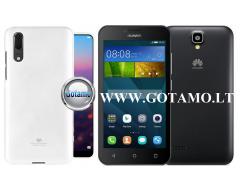 Mercury Jelly dėklas nugarėlė Huawei Y5 telefonui baltos spalvos
