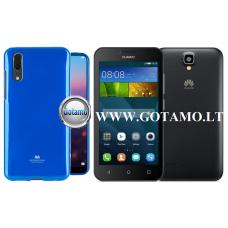 Mercury Jelly dėklas nugarėlė Huawei Y5 telefonui mėlynos spalvos