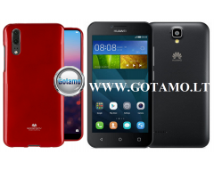 Mercury Jelly dėklas nugarėlė Huawei Y5 telefonui raudonos spalvos