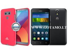Mercury Jelly dėklas nugarėlė Huawei Y5 telefonui tamsiai rožinės spalvos