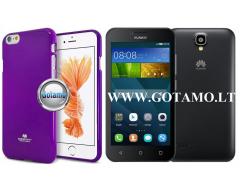 Mercury Jelly dėklas nugarėlė Huawei Y5 telefonui violetinės spalvos