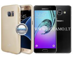 Mercury Jelly dėklas nugarėlė Samsung Galaxy A3 (2016) telefonui aukso spalvos
