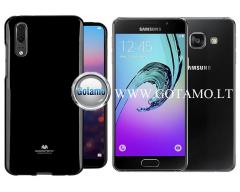 Mercury Jelly dėklas nugarėlė Samsung Galaxy A3 (2016) telefonui juodos spalvos