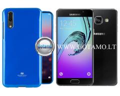 Mercury Jelly dėklas nugarėlė Samsung Galaxy A3 (2016) telefonui mėlynos spalvos