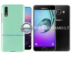 Mercury Jelly dėklas nugarėlė Samsung Galaxy A3 (2016) telefonui mėtinės spalvos