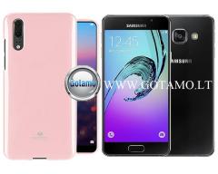 Mercury Jelly dėklas nugarėlė Samsung Galaxy A3 (2016) telefonui rožinės spalvos