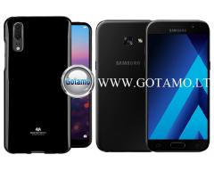Mercury Jelly dėklas nugarėlė Samsung Galaxy A3 (2017) telefonui juodos spalvos