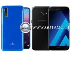 Mercury Jelly dėklas nugarėlė Samsung Galaxy A3 (2017) telefonui mėlynos spalvos