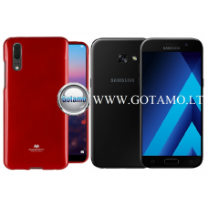 Mercury Jelly dėklas nugarėlė Samsung Galaxy A3 (2017) telefonui raudonos spalvos Kaunas | Telšiai | Palanga