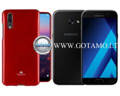 Mercury Jelly dėklas nugarėlė Samsung Galaxy A3 (2017) telefonui raudonos spalvos
