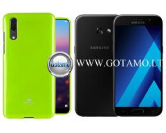 Mercury Jelly dėklas nugarėlė Samsung Galaxy A3 (2017) telefonui salotinės spalvos